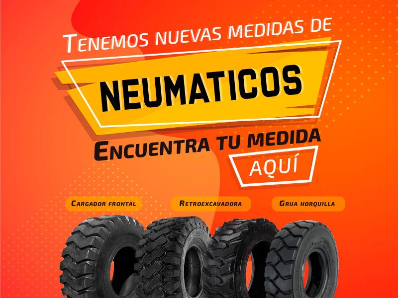Catálogo de maquinaria, repuestos, neumaticos y servicios